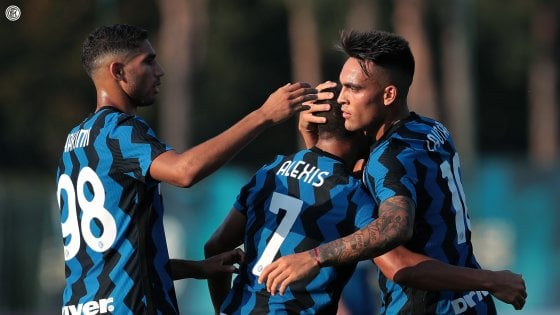 Inter, cinque gol al Lugano: e Hakimi ha già capito Conte
