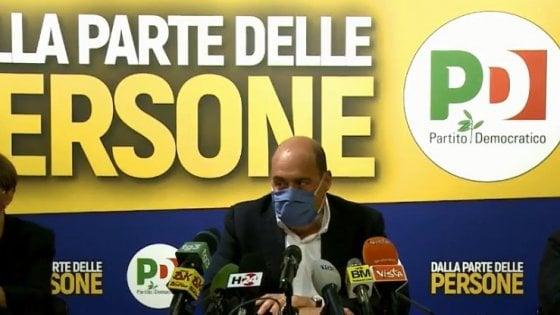 """Regionali, Zingaretti: """"Pd primo partito, ora aprire tre cantieri: riforme, Recovery fund e sanità"""""""