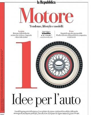 Le dieci idee per l'auto sul mensile Motore con Repubblica di VALERIO BERRUTILe 10 icone del design di W.DE SILVALa rivoluzione tecnologica, dall'idrogeno alla guida autonoma di JAIME D'ALESSANDRO