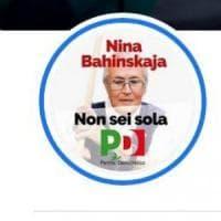 Il Pd pubblica sul logo di Facebook il volto di Nina Bahinskaja, attivista bielorussa...