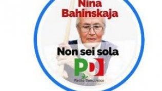 Pd pubblica sul logo Fb il volto di Nina Bahinskaja, attivista bielorussa arrestata