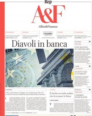 Affari&Finanza Riciclaggio ed evasione: gli affari sporchi delle banche 12 anni dopo crac Lehman
