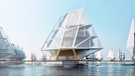 Case galleggianti in plastica riciclata: resilienza di design