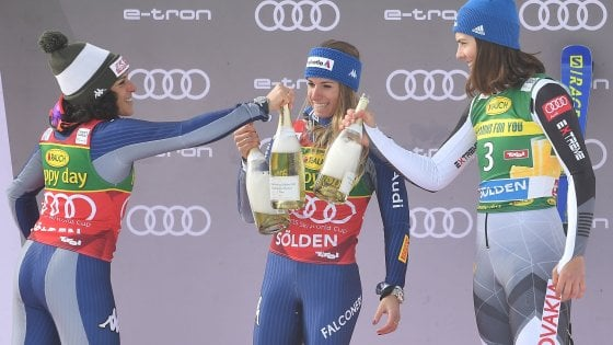 Sci, Cdm donne: doppietta azzurra a Soelden, Bassino vince il gigante davanti a Brignone
