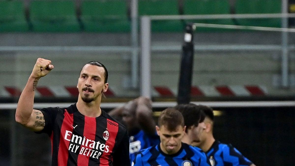 Inter-Milan 1-2, Ibrahimovic lancia i rossoneri da soli in vetta