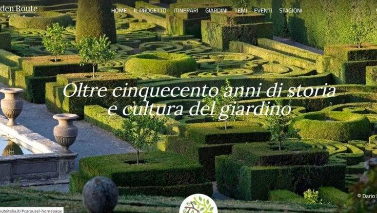 """""""Grand route Italia"""" ecco il portale per conoscere i parchi e i giardini del Paese"""