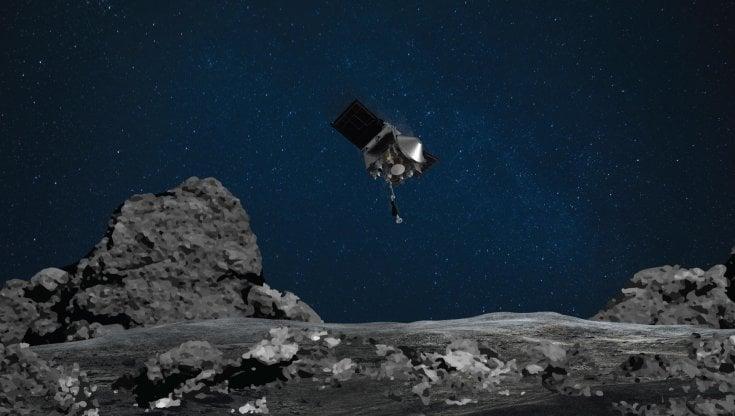 Spazio, la sonda della Nasa raggiunge l'asteroide Bennu e raccoglie materiale cosmico