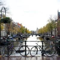 Amsterdam, fioriere sui ponti contro il parcheggio selvaggio delle bici