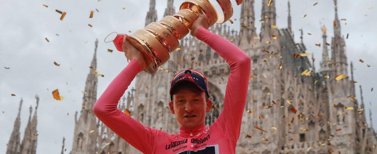 Ciclismo, il Giro è di Geoghegan Hart: Hindley si arrende, crono finale a Ganna