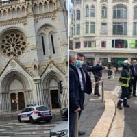 """Nizza, attentato in una chiesa: tre morti e un ferito grave. Macron: """"Francia sotto..."""