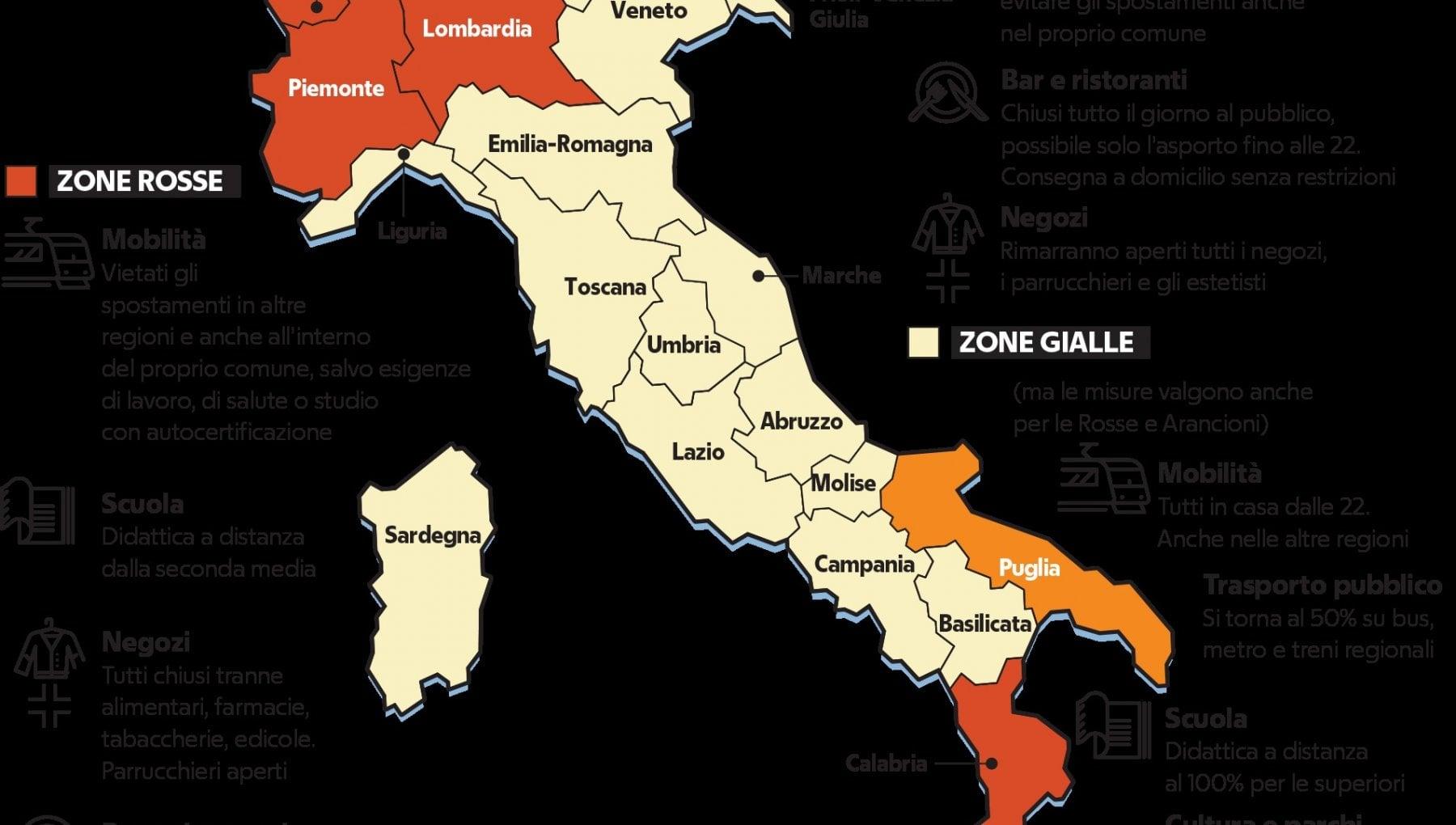 Cartina Italia Politica A Colori.L Italia Dei Tre Colori La Repubblica