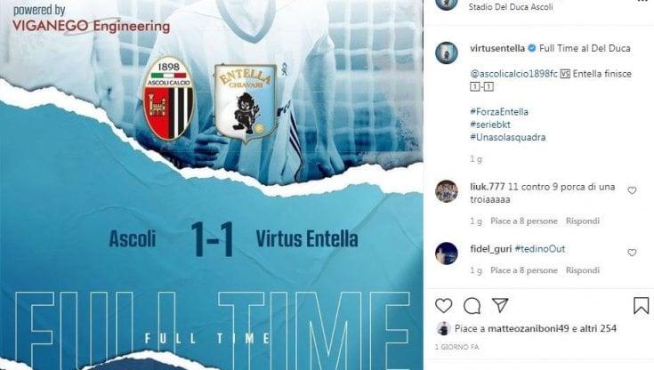Serie B, Ascoli-Entella partita maledetta: Tedino esonerato e Bertotto sfiduciato
