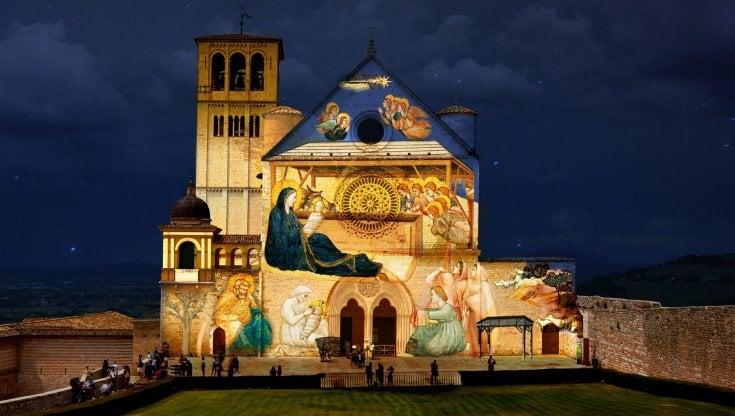 Natale 2020, Assisi città Presepe: rivivono gli affreschi di Giotto