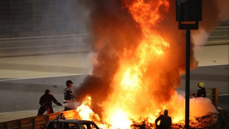 F1, Bahrain; cambiano le misure di sicurezza dopo lincidente di Grosjean