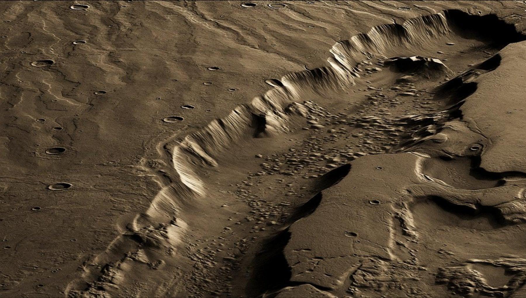 La zona migliore per vivere su Marte? Molti chilometri sotto la superficie