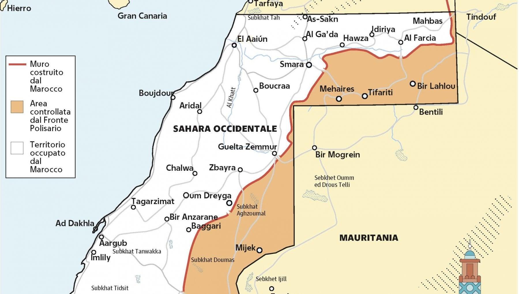Cartina Politica Del Marocco.Le Ricchezze Dietro La Guerra Infinita Del Sahara Occidentale La Repubblica