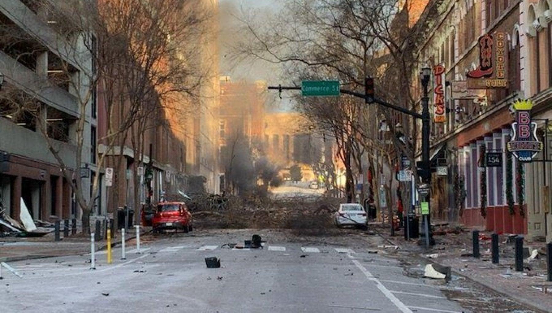 """171028618 f17a6adc db8f 4ace bca8 fe6acd339403 - Usa, esplosione nel centro di Nashville: """"Atto intenzionale"""". Media locali: trovati resti umani"""