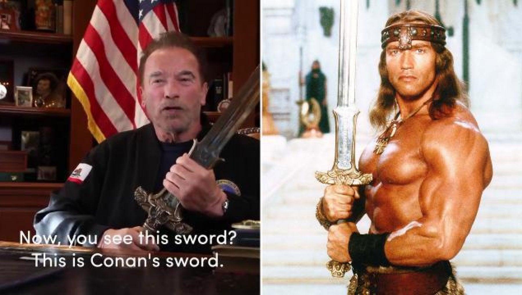 """220737911 f665a3d1 5df8 4a14 8cb8 46a1222a912d - Schwarzenegger sfodera la spada di Conan contro Trump: """"L'assalto al Congresso è stata la notte dei cristalli dell'America"""""""