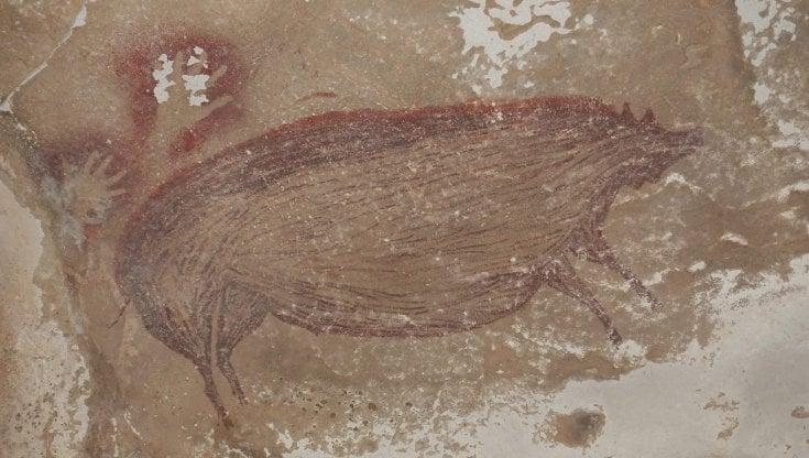 La più antica arte figurativa, 45 mila anni fa. Nascosta in una grotta indonesiana