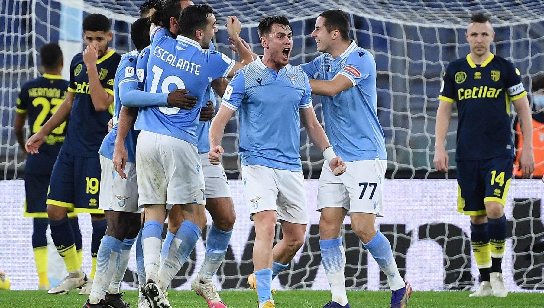 Coppa Italia: Lazio-Parma 2-1, al 90' i biancocelesti si guadagnano l'Atalanta