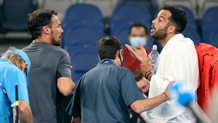 Australian Open, Fognini litiga con Caruso: Posso dire che hai culo?