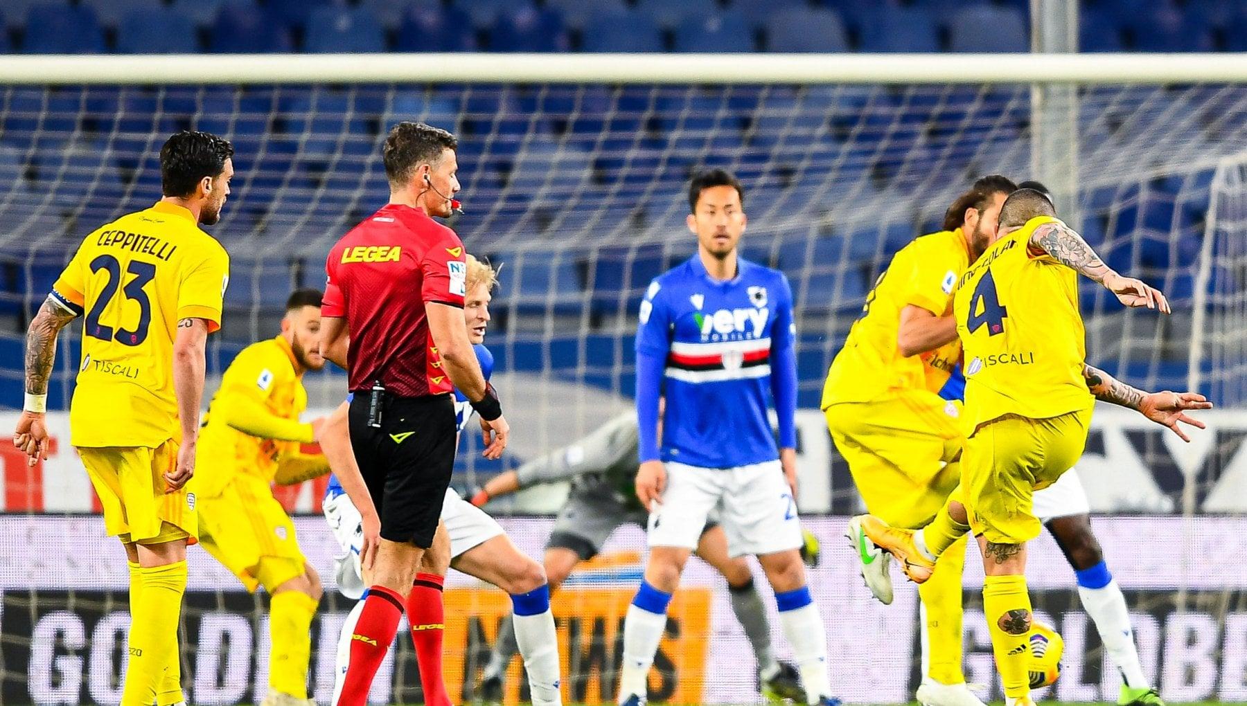 Sampdoria-Cagliari 2-2, Nainggolan rimonta i blucerchiati all'ultimo secondo
