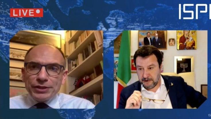 """Letta a Salvini: """"La Lega entri nel Ppe"""". Il confronto su Europa e Covid -  la Repubblica"""