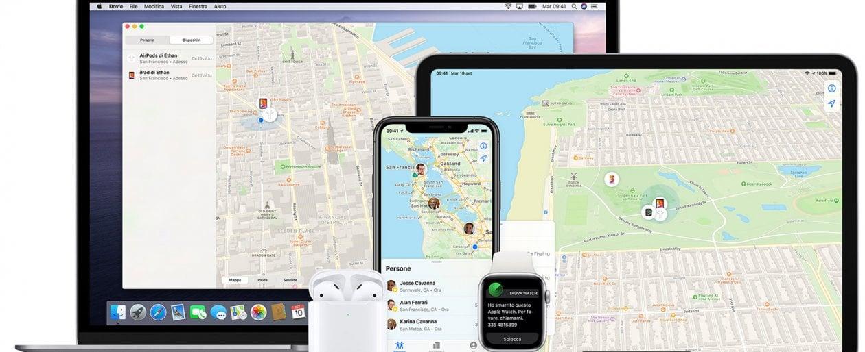 """Apple, ora l'app """"Dov'è"""" rintraccia anche dispositivi prodotti da altre aziende"""