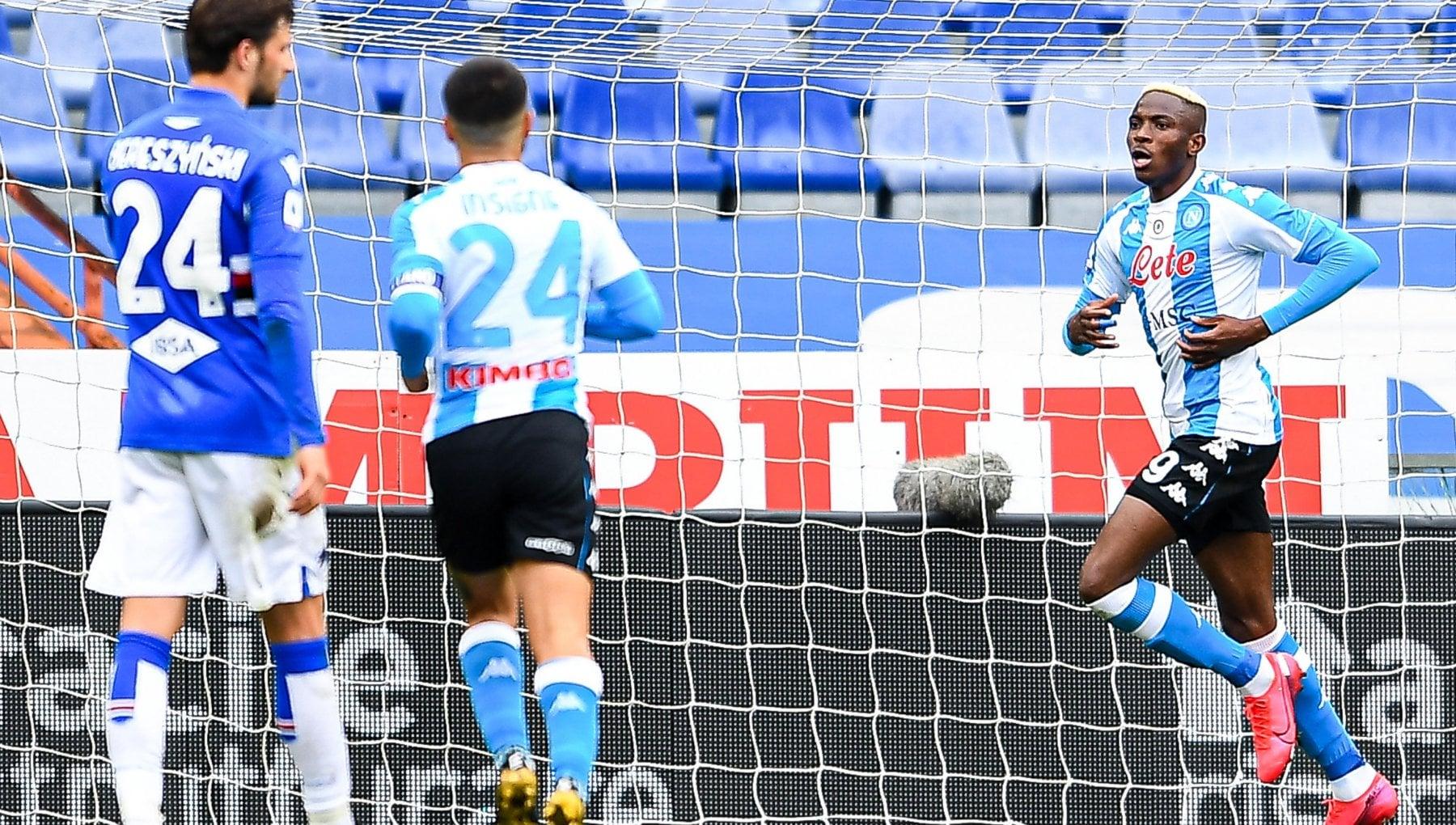 Sampdoria-Napoli 0-2, Fabian e Osimhen fanno ripartire gli azzurri - la Repubblica