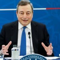 """Covid, Draghi: """"Dal 26 aprile torna la zona gialla. Riaprono scuole a attività a..."""
