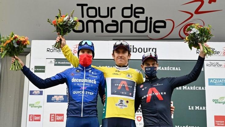 Ciclismo: Giro di Romandia a Thomas, Masnada sul podio. Crono finale a Cavagna