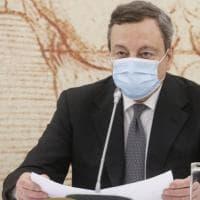 """Covid, Draghi: """"Vaccini bene comune globale: abbattere gli ostacoli che limitano la..."""