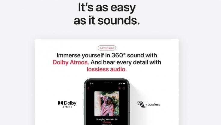 Su Apple Music arrivano l'alta fedeltà e l'audio in 3D
