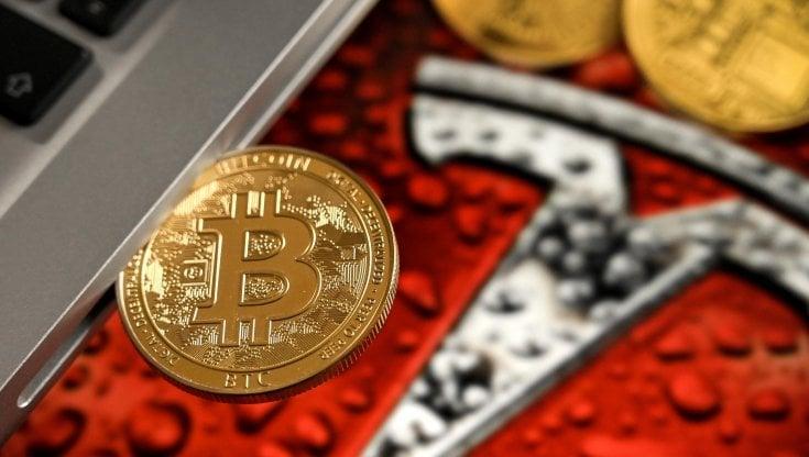 borsa di monete bitcoin