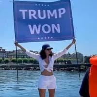 """La nipote di Bin Laden manifesta per Trump: """"Sostenerlo mi ha causato più problemi che..."""