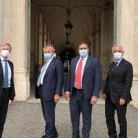 Toti e Brugnaro incontrano Mattarella: delegazione di Coraggio Italia al Quirinale