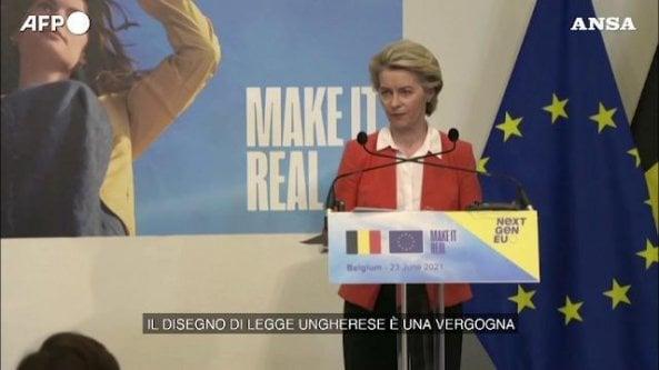 Ursula Von der Leyen: La legge anti-Lgbt ungherese è una vergogna