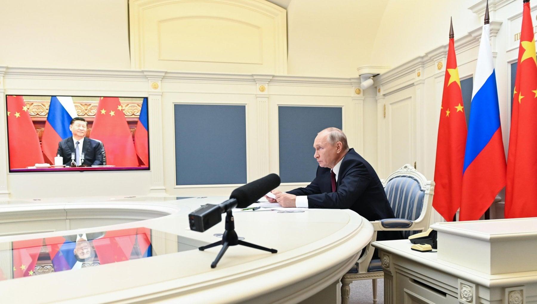"""210348439 54f7d45d 3f7d 4a9c b1de 05207b26195b - Putin e Xi rinsaldano l'asse Russia-Cina: """"Modello di cooperazione"""""""