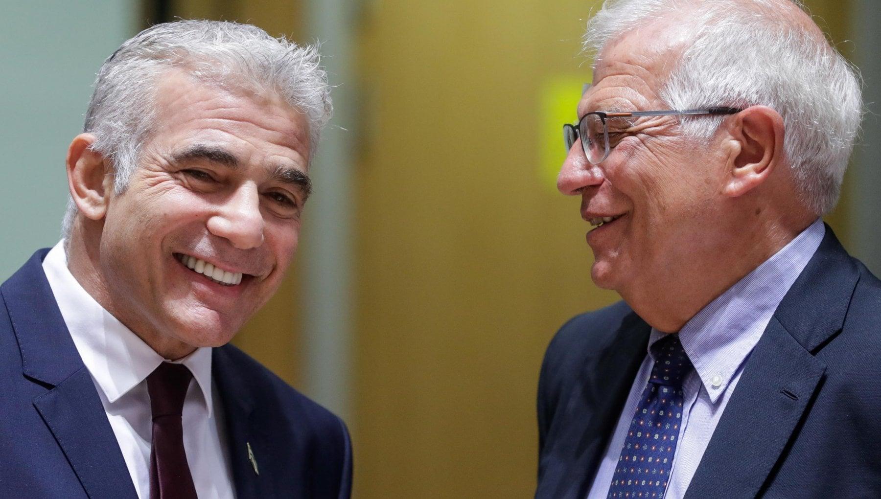 """134445254 eb6ce1b6 5432 43d4 93a9 40da060fb0e0 - Lapid a Bruxelles: """"Nuovo inizio nelle relazioni fra la Ue e Israele"""""""