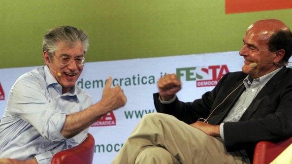 Gli 80 anni di Bossi, Bersani: Io e Umberto lontanissimi ma amici