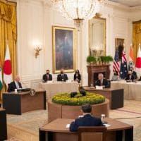"""Stati Uniti, India, Giappone e Australia: il vertice """"Quad"""" lancia la sfida alla Cina..."""