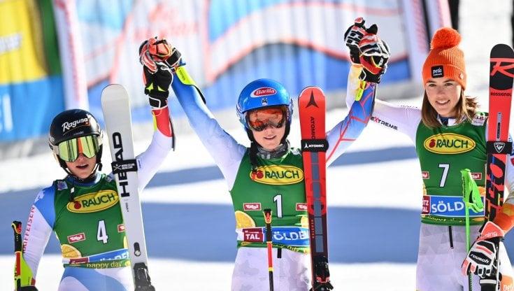 Sci, Mikaela Shiffrin vince il gigante di Soelden. Deludono le azzurre