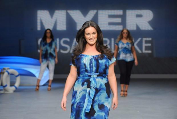 Sydney, modelle oversize in passerella