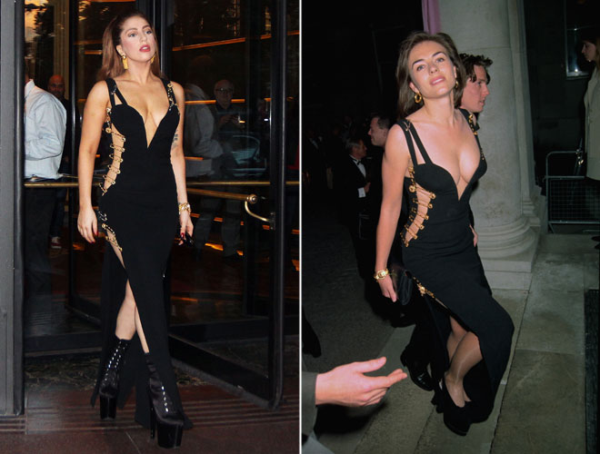 Lady Gaga copia il look di Liz Hurley