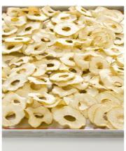 Anelli di mela essiccati