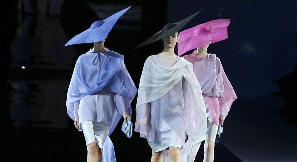Giorgio Armani rethinks women's aesthetic