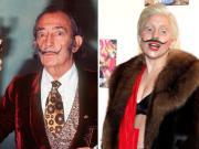 L'ultima di Lady Gaga: i baffi alla Dalì