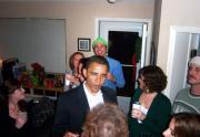 Barack, Brad... quante star alle feste di Everett!