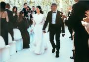 Kim: dall'abito al menù, un matrimonio su Instagram