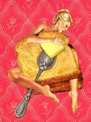 Il cibo è sexy: i collage di Eugenia